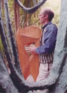 Pentatonic Tone Harp in Soundscape Improvisation in Barbara Hepworth Garden,  (with permission from Tate Gallery, St.Ives).